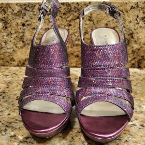 Style and Co. Plum glitter heels